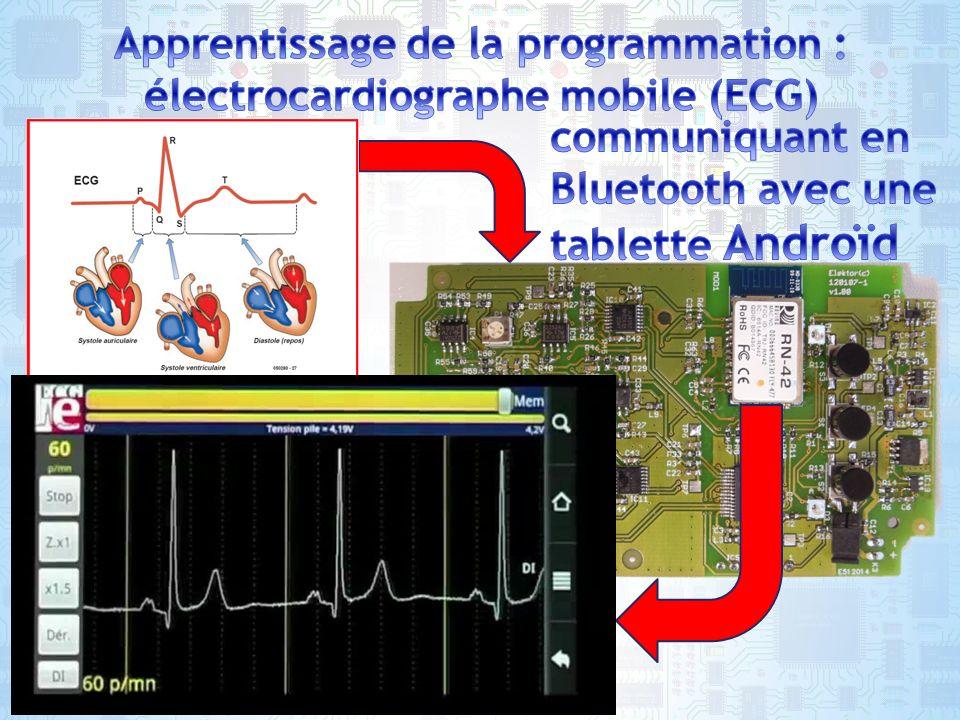 Apprentissage de la programmation : électrocardiographe mobile (ECG)