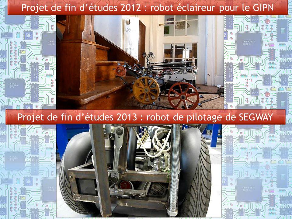 Projet de fin d'études 2012 : robot éclaireur pour le GIPN