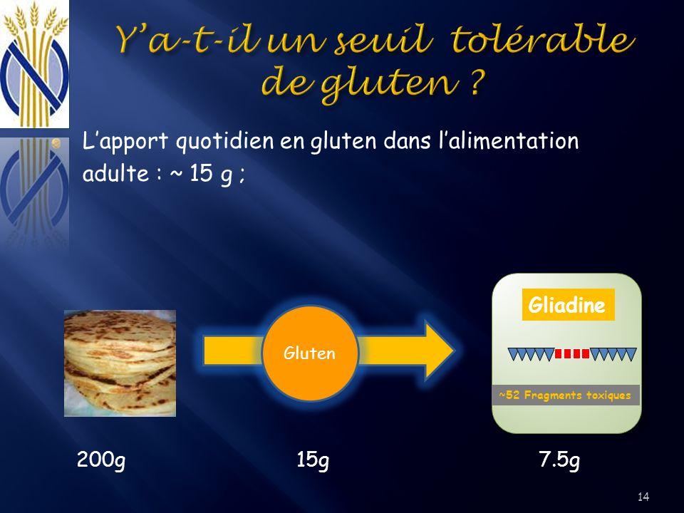 Y'a-t-il un seuil tolérable de gluten