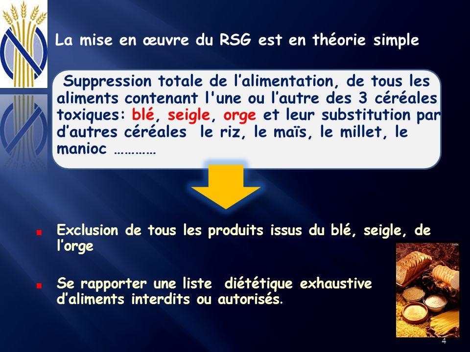 La mise en œuvre du RSG est en théorie simple
