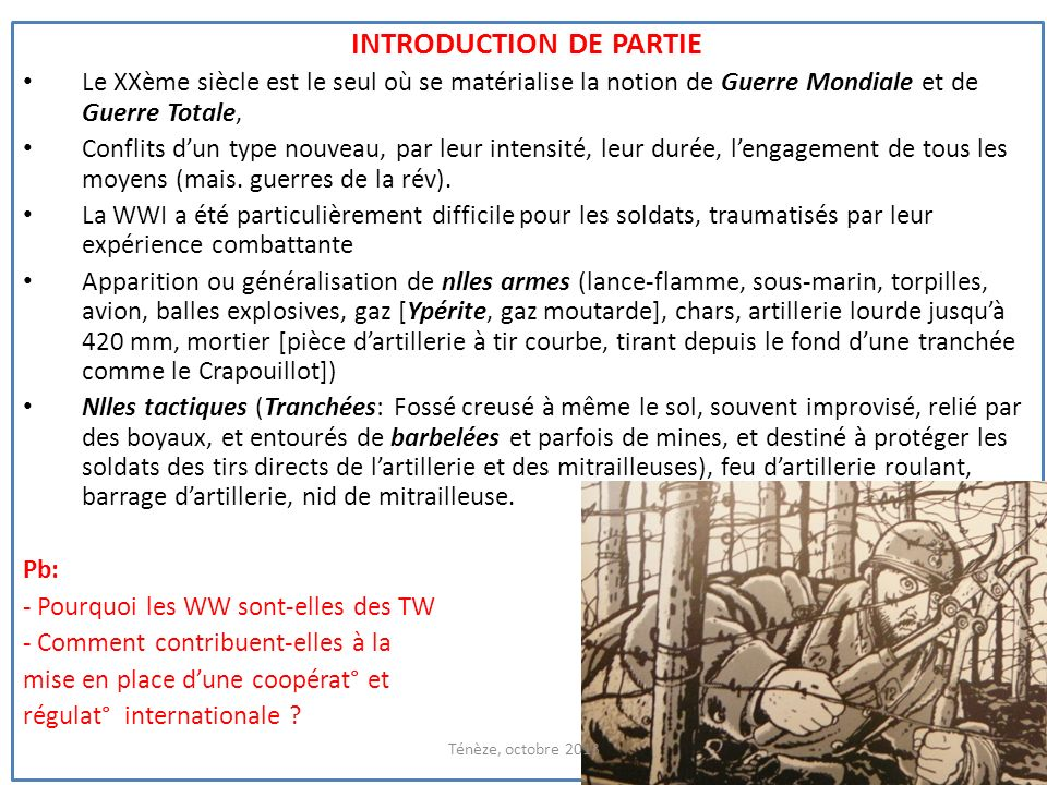 Introduction de partie