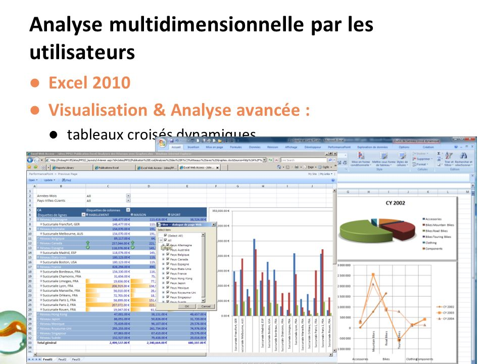 Analyse multidimensionnelle par les utilisateurs