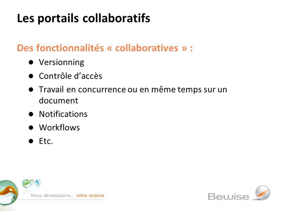 Les portails collaboratifs