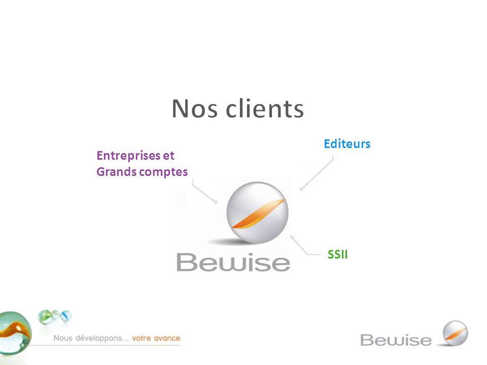 Nos clients Editeurs Entreprises et Grands comptes SSII