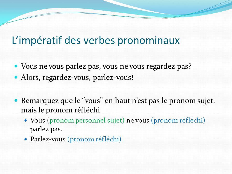 L'impératif des verbes pronominaux
