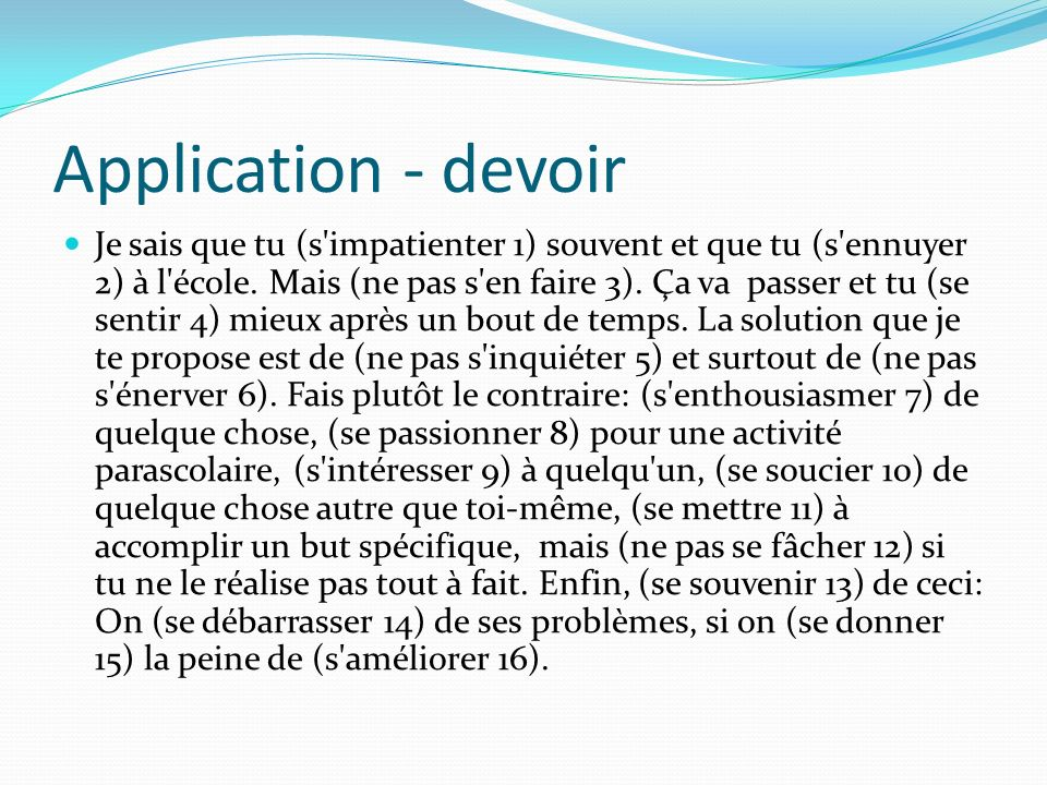 Application - devoir