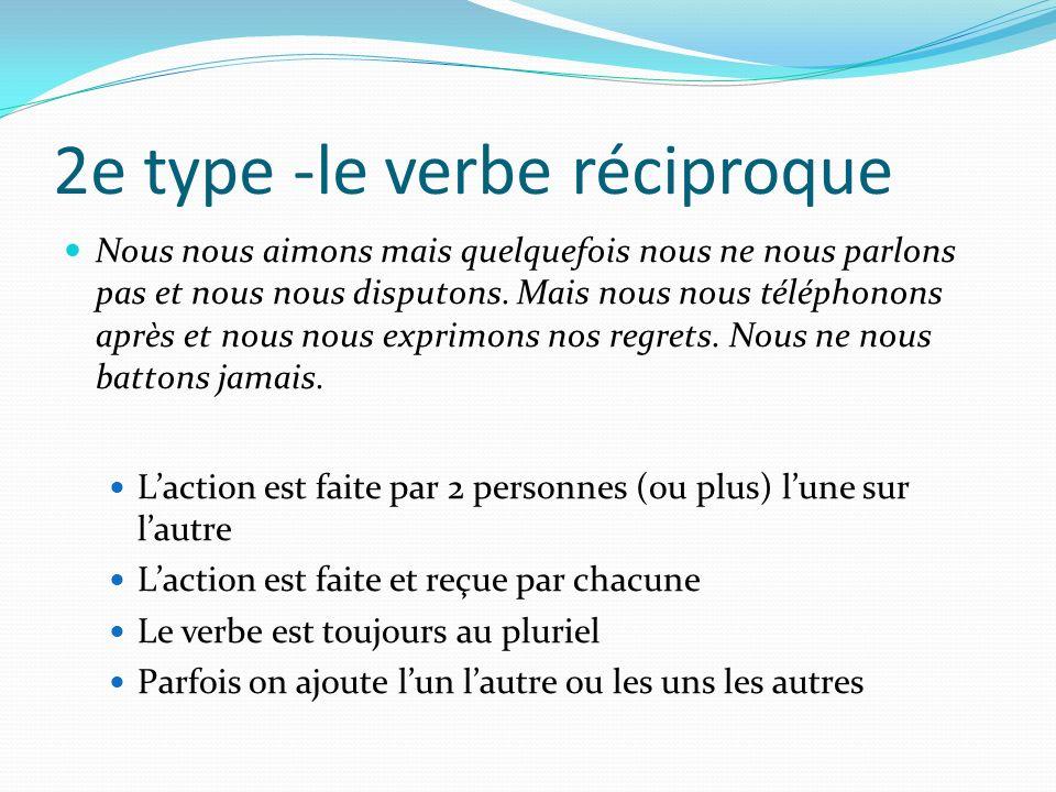 2e type -le verbe réciproque