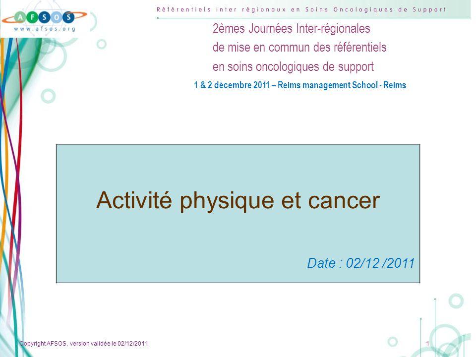 Activité physique et cancer