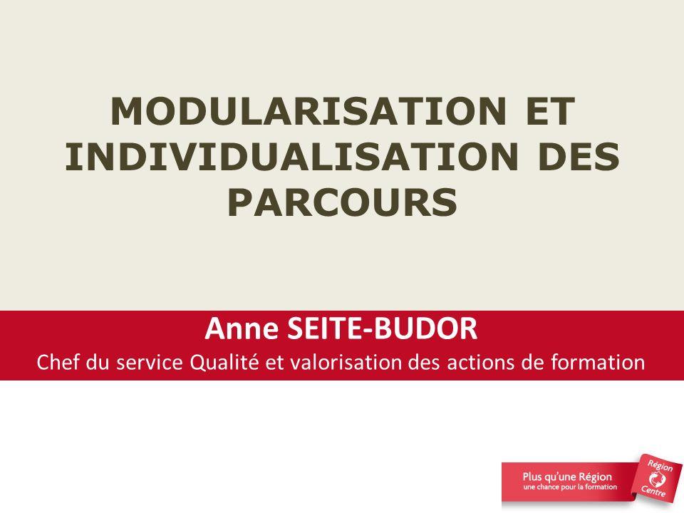MODULARISATION ET INDIVIDUALISATION DES PARCOURS