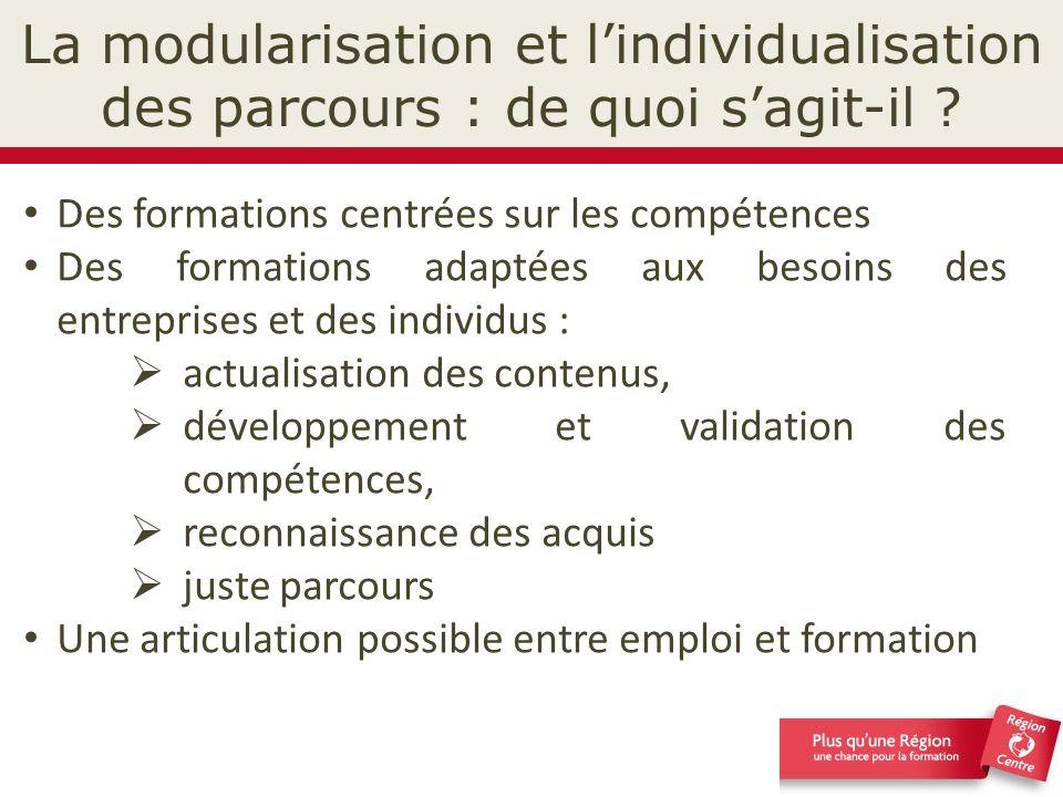 La modularisation et l'individualisation des parcours : de quoi s'agit-il