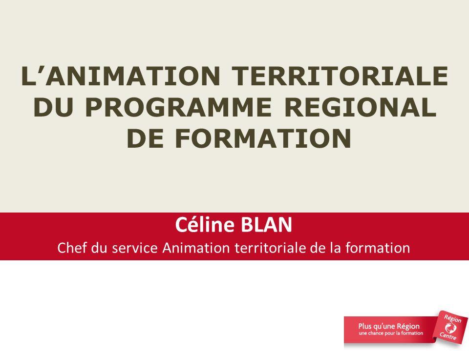 L'ANIMATION TERRITORIALE DU PROGRAMME REGIONAL DE FORMATION