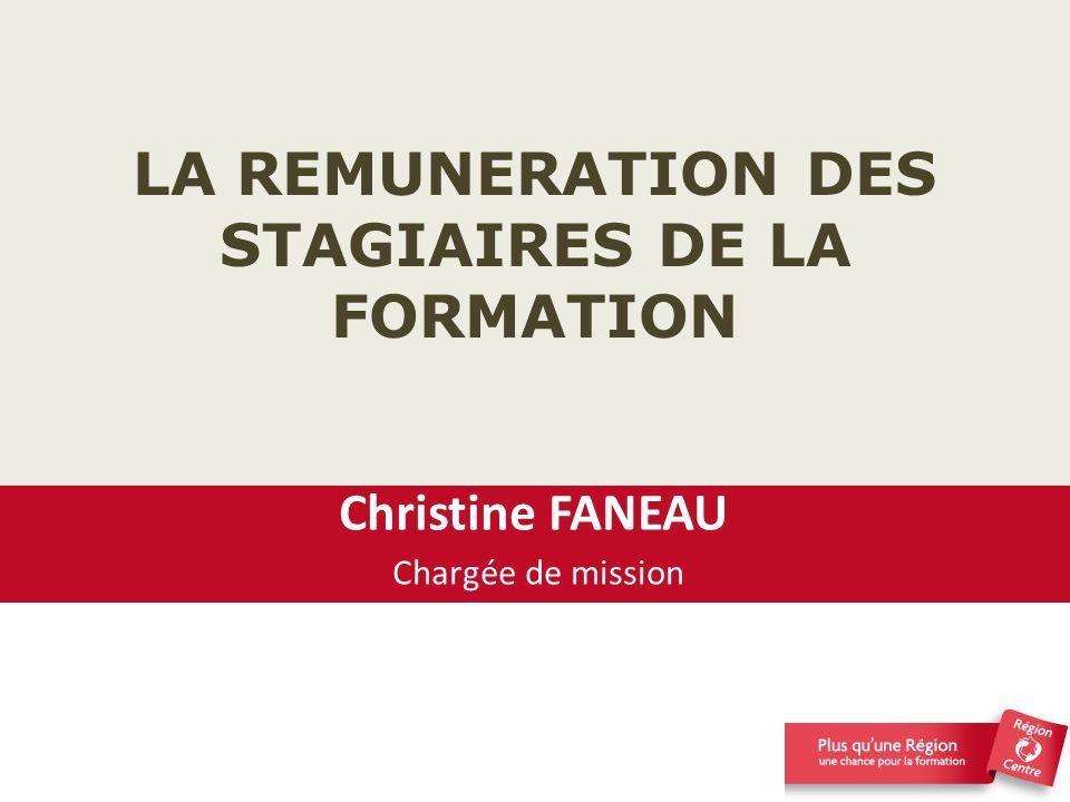 LA REMUNERATION DES STAGIAIRES DE LA FORMATION