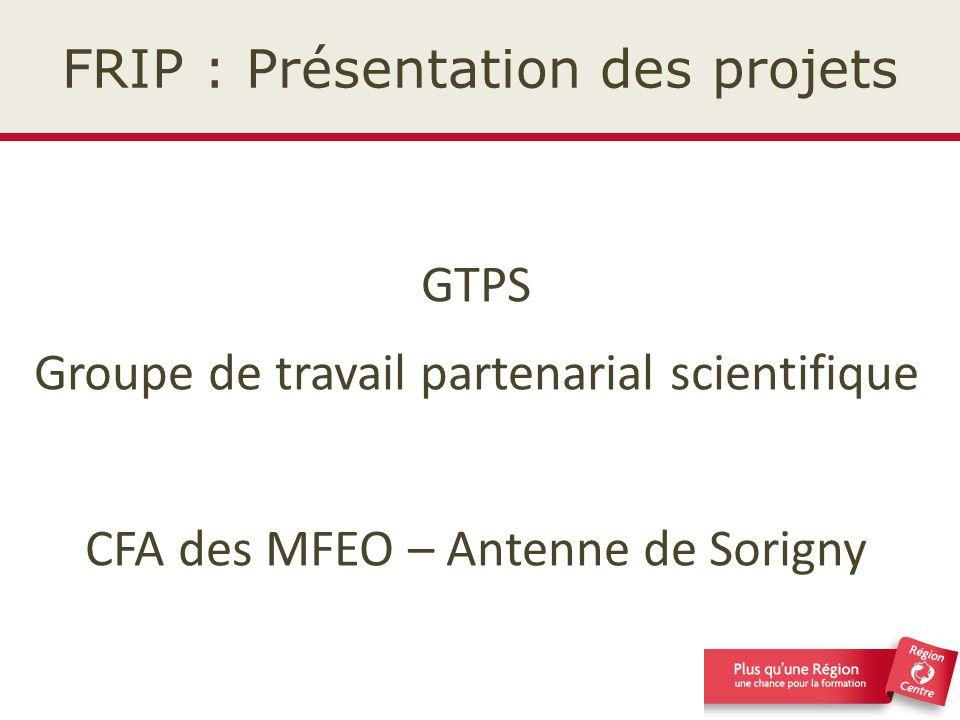 FRIP : Présentation des projets