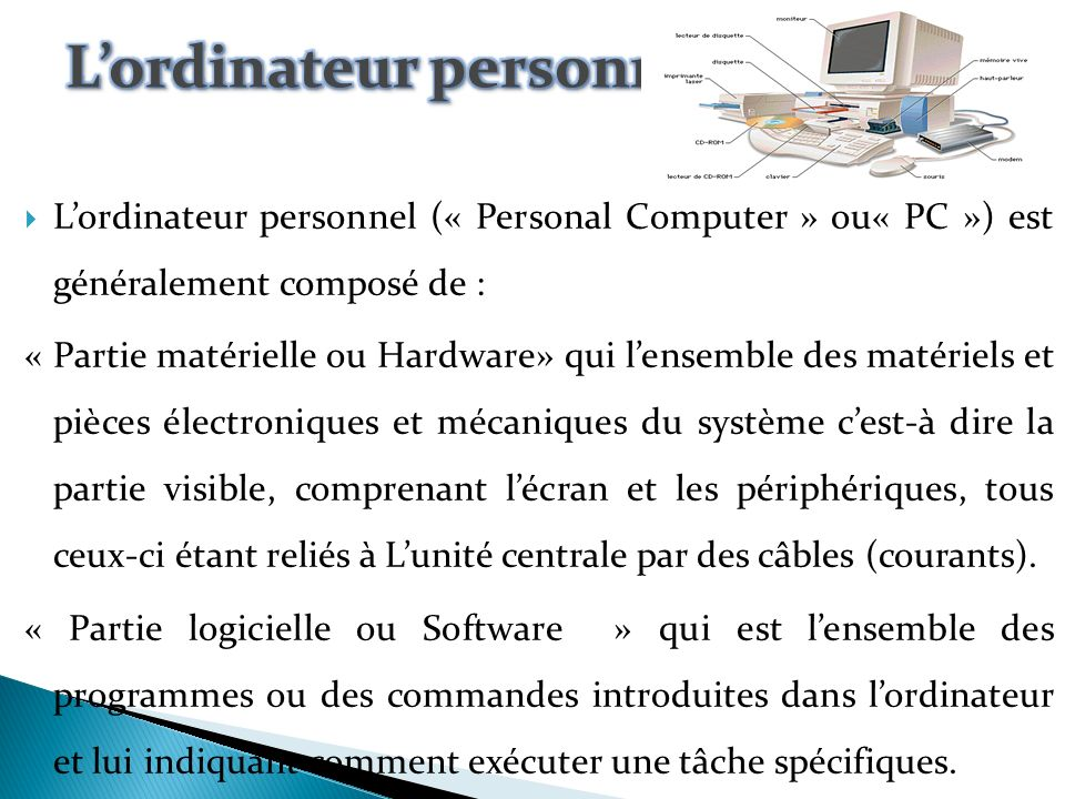 L'ordinateur personnel