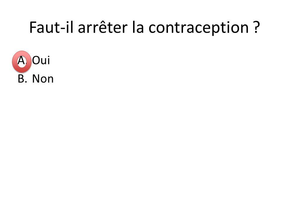 Faut-il arrêter la contraception