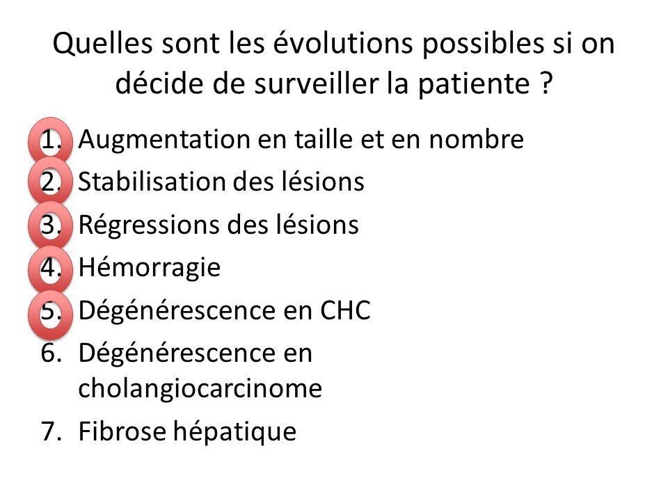 Quelles sont les évolutions possibles si on décide de surveiller la patiente