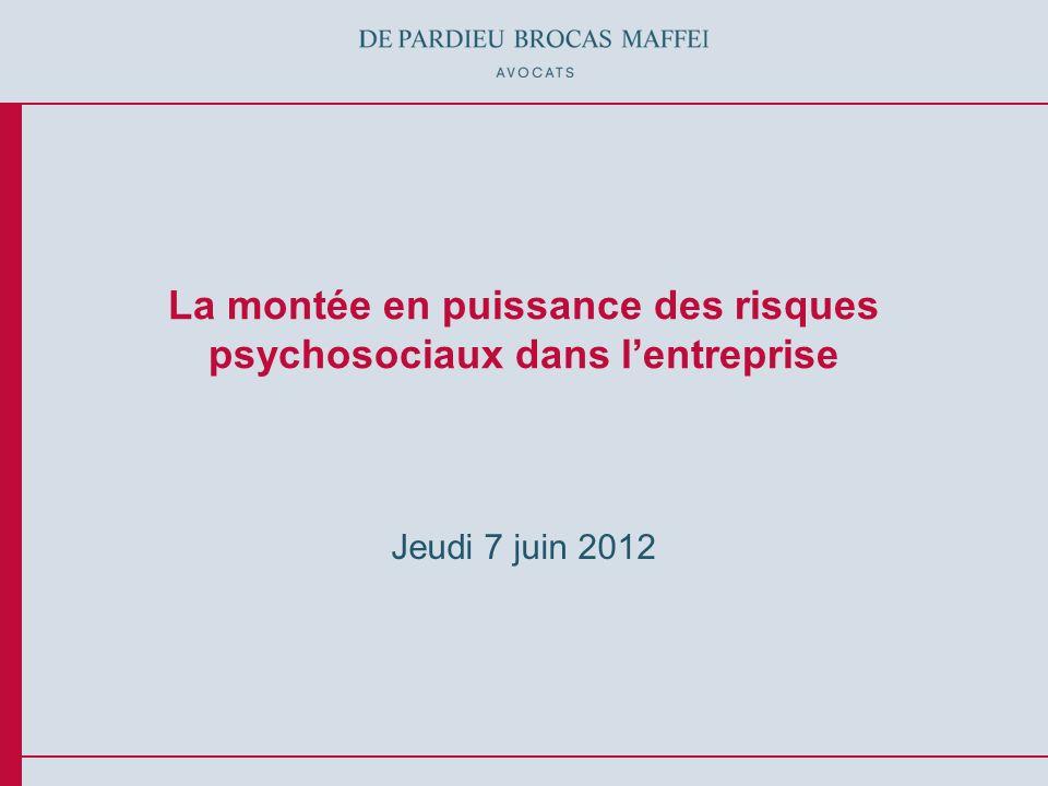 La montée en puissance des risques psychosociaux dans l'entreprise