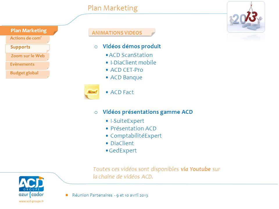 Plan Marketing Vidéos démos produit ACD ScanStation I-DiaClient mobile