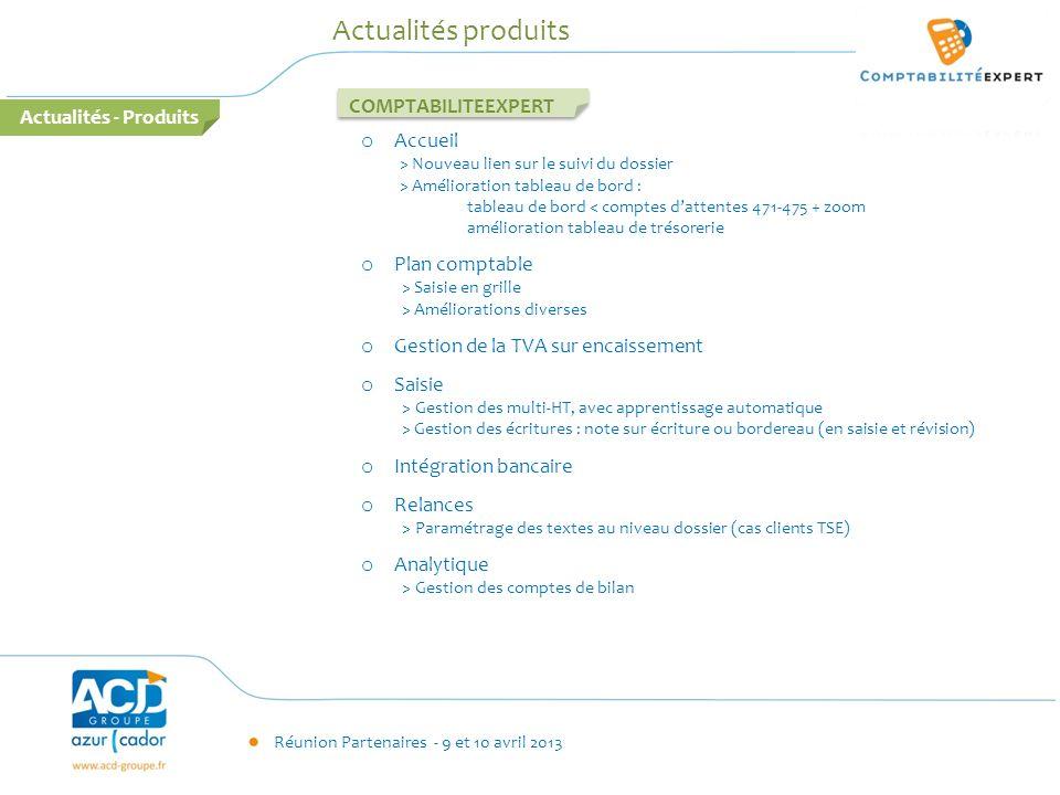 Actualités produits COMPTABILITEEXPERT Actualités - Produits Accueil
