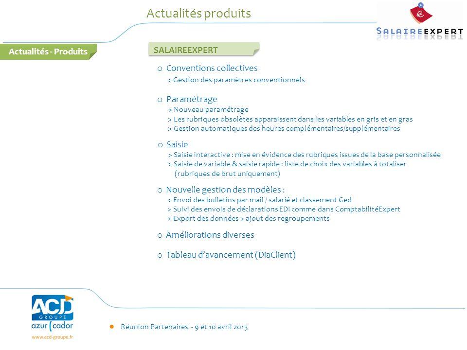 Actualités produits Actualités - Produits SALAIREEXPERT