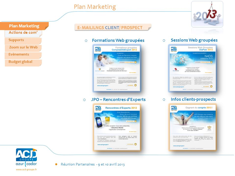 Plan Marketing Plan Marketing E- MAILILNGS CLIENT/ PROSPECT