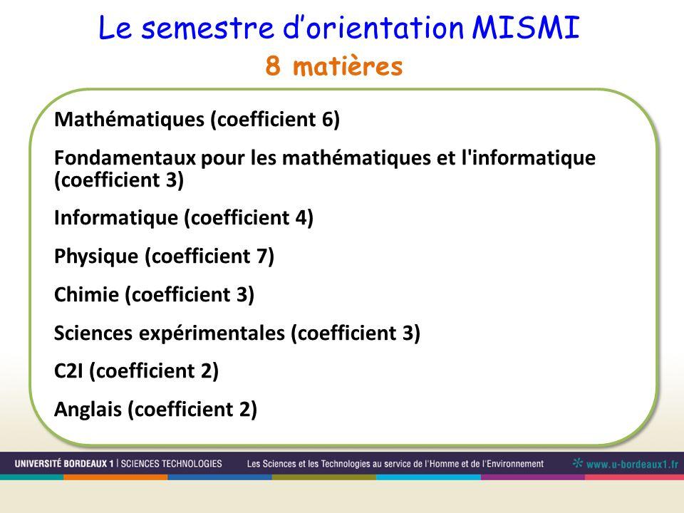 Le semestre d'orientation MISMI