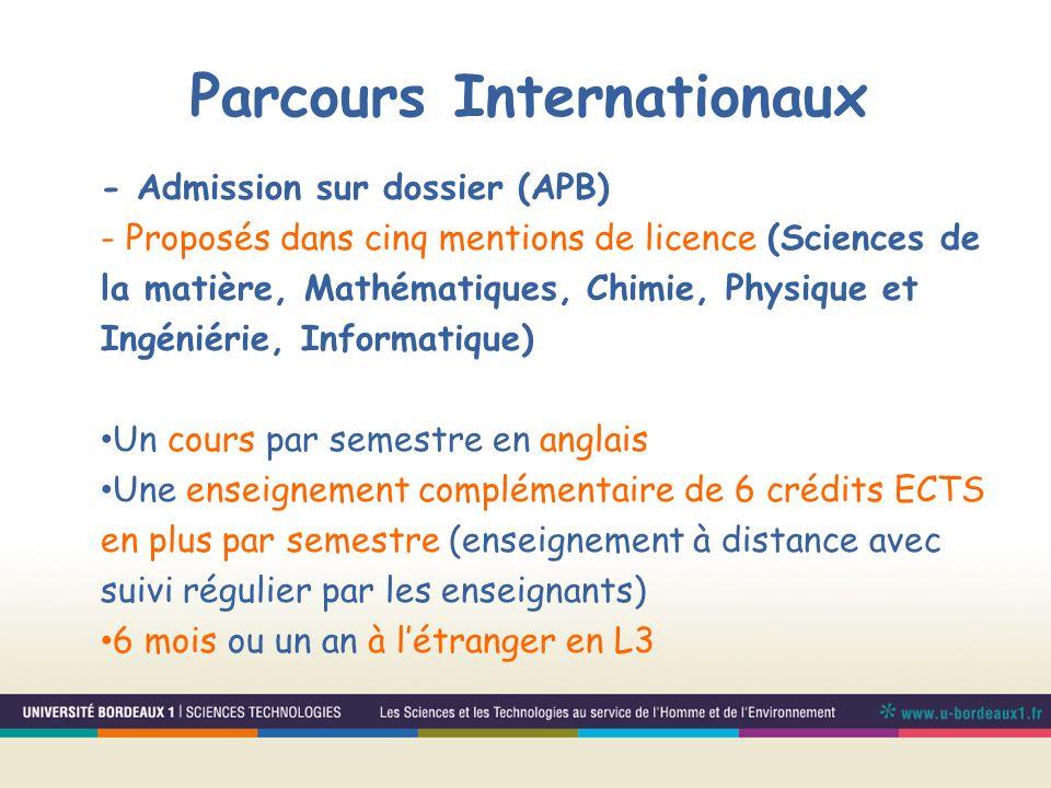 Parcours Internationaux