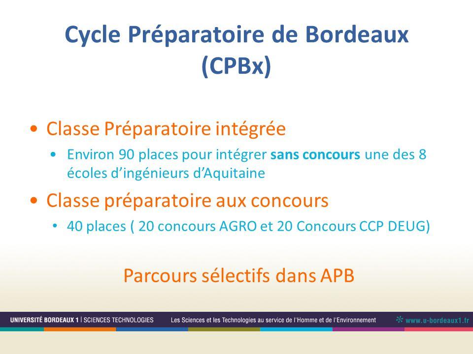 Cycle Préparatoire de Bordeaux (CPBx)