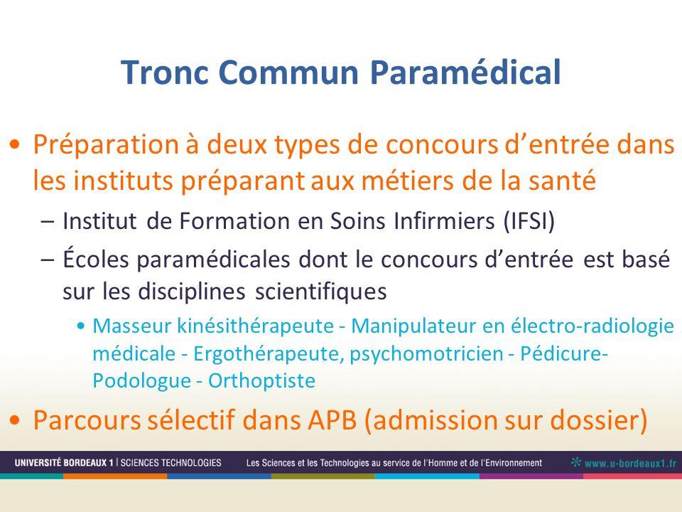 Tronc Commun Paramédical