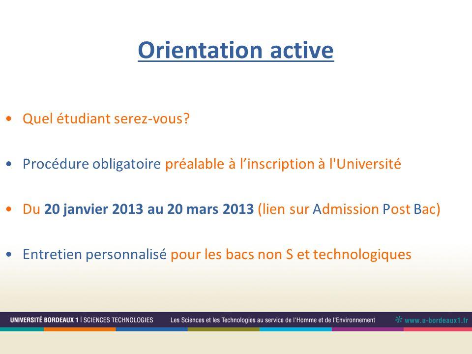 Orientation active Quel étudiant serez-vous