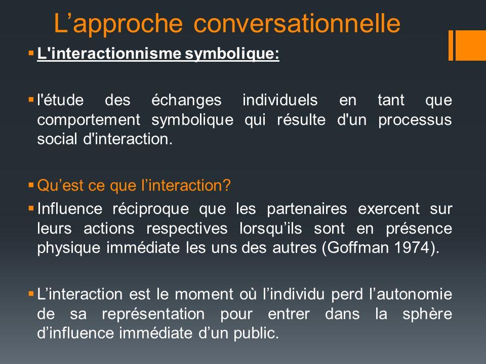 L'approche conversationnelle