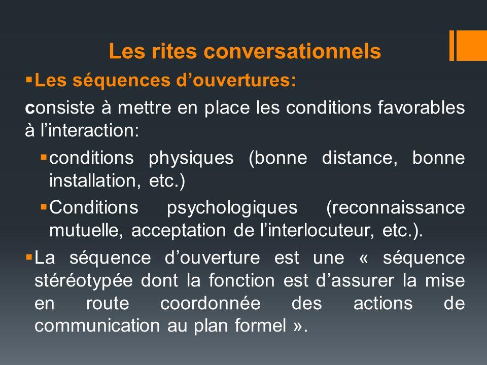 Les rites conversationnels