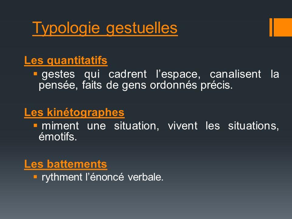 Typologie gestuelles Les quantitatifs