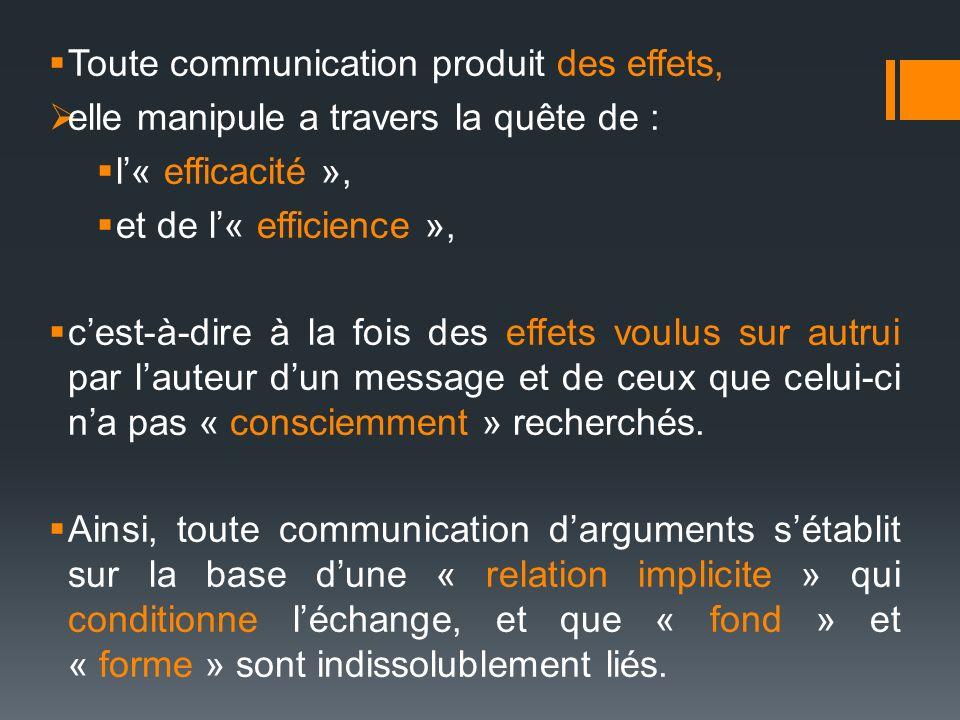 Toute communication produit des effets,