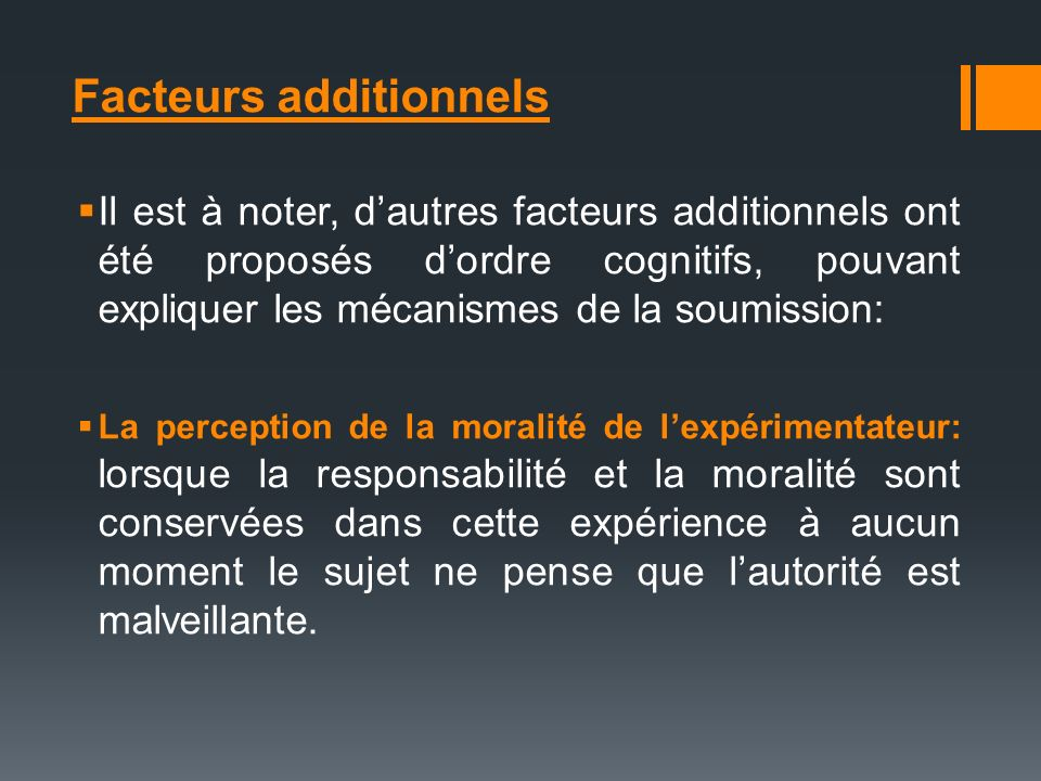 Facteurs additionnels