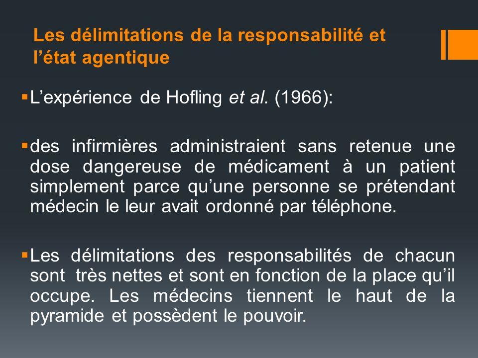 Les délimitations de la responsabilité et l'état agentique