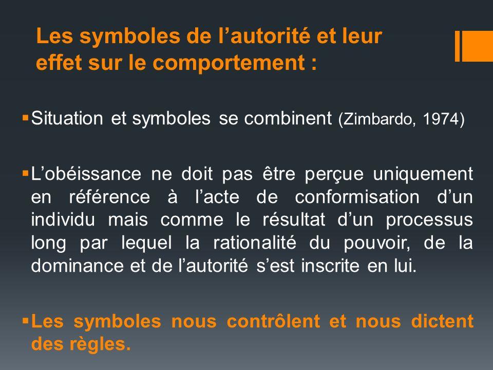 Les symboles de l'autorité et leur effet sur le comportement :