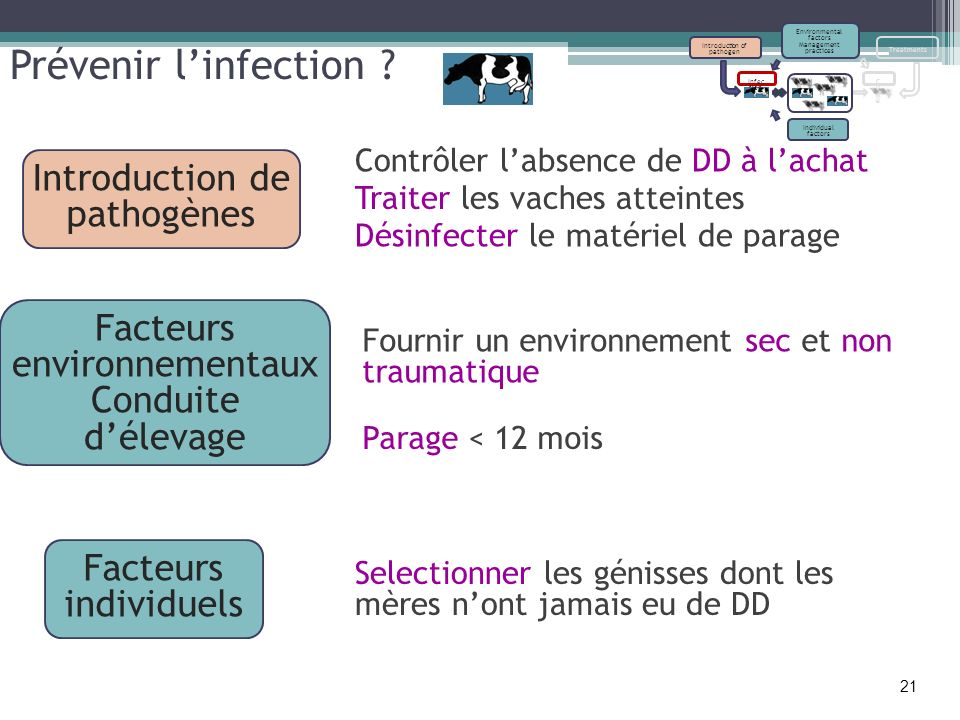 Prévenir l'infection Introduction de pathogènes