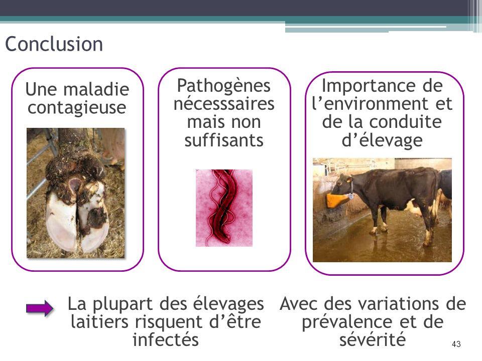 Conclusion Pathogènes nécesssaires mais non suffisants