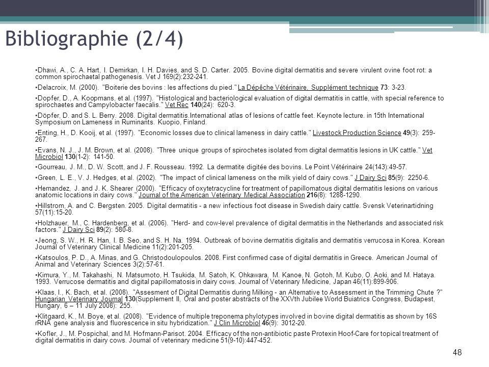 Bibliographie (2/4)
