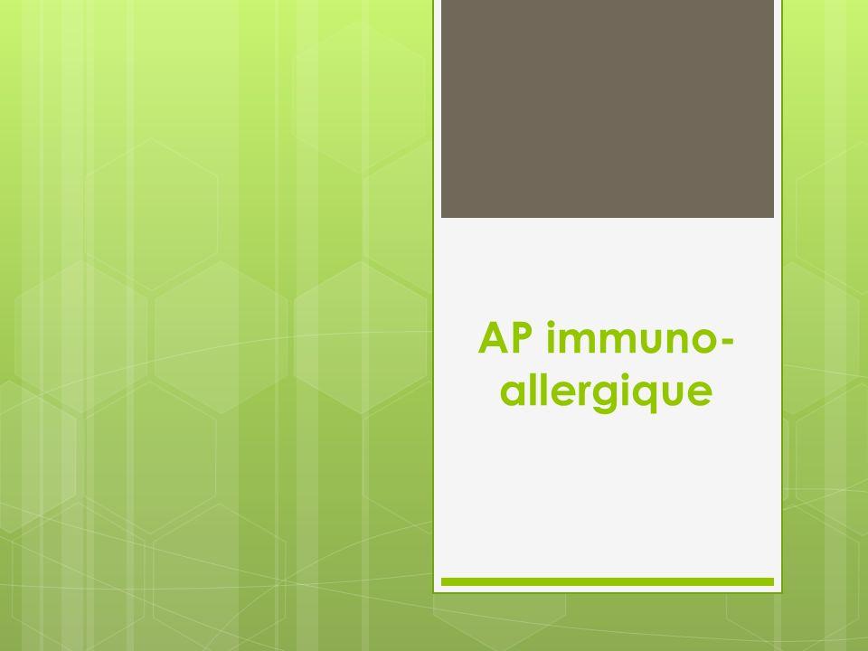 AP immuno-allergique