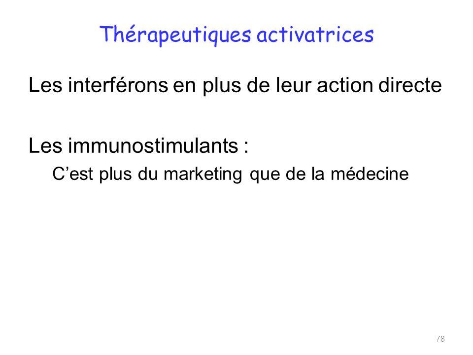 Thérapeutiques activatrices