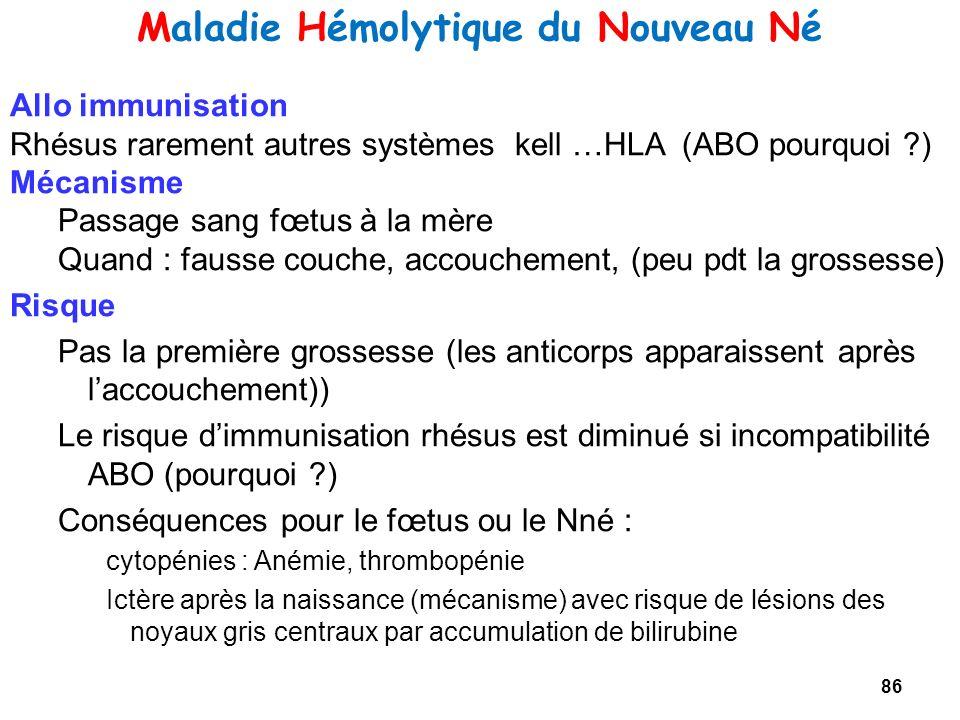 Maladie Hémolytique du Nouveau Né