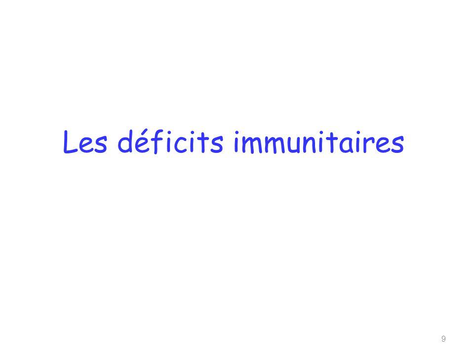 Les déficits immunitaires