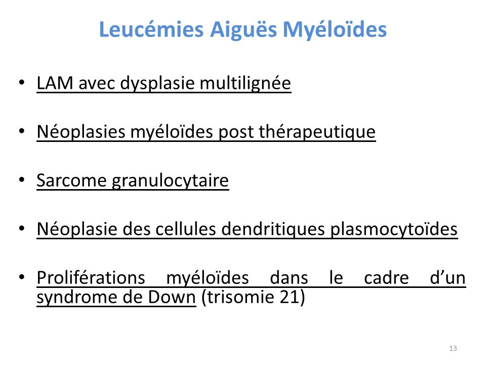 Leucémies Aiguës Myéloïdes