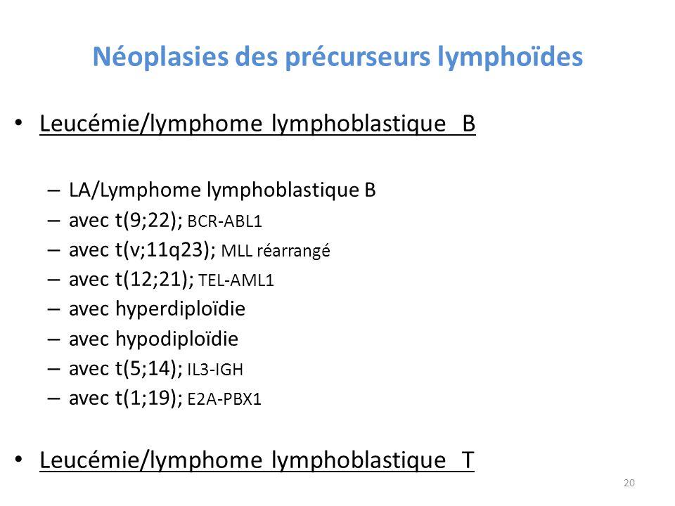 Néoplasies des précurseurs lymphoïdes
