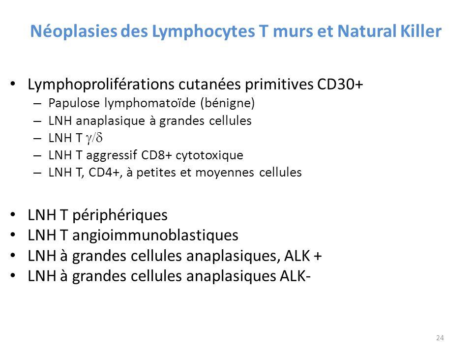 Néoplasies des Lymphocytes T murs et Natural Killer