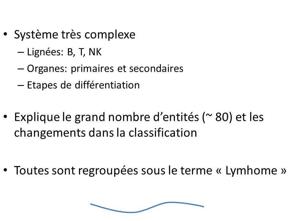 Toutes sont regroupées sous le terme « Lymhome »