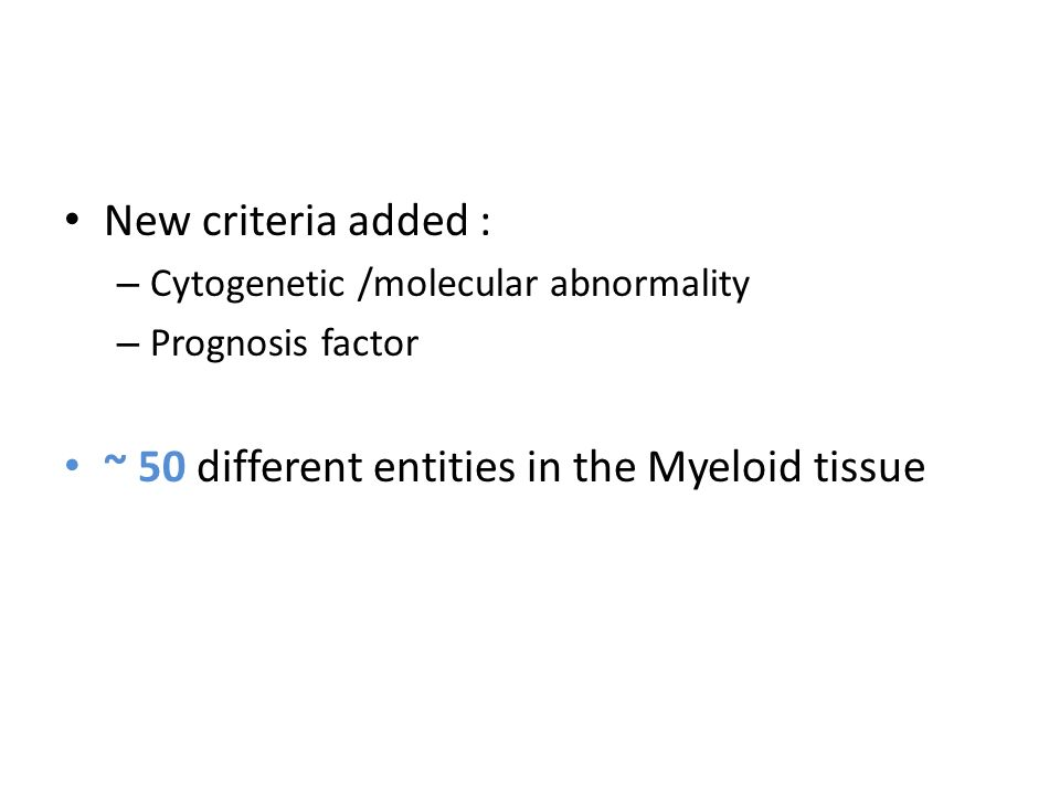 ~ 50 different entities in the Myeloid tissue