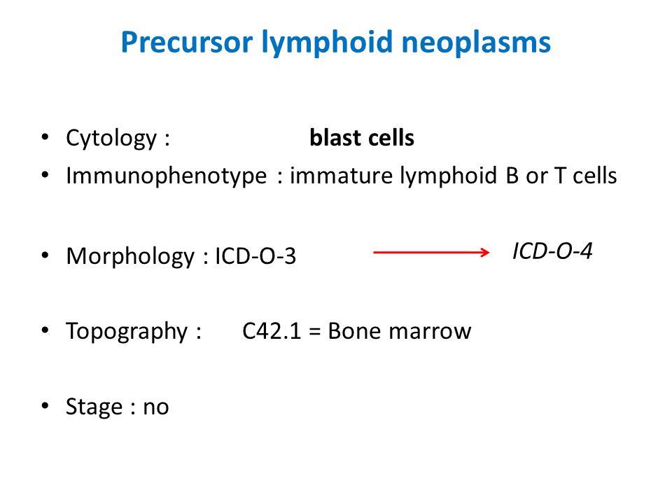 Precursor lymphoid neoplasms